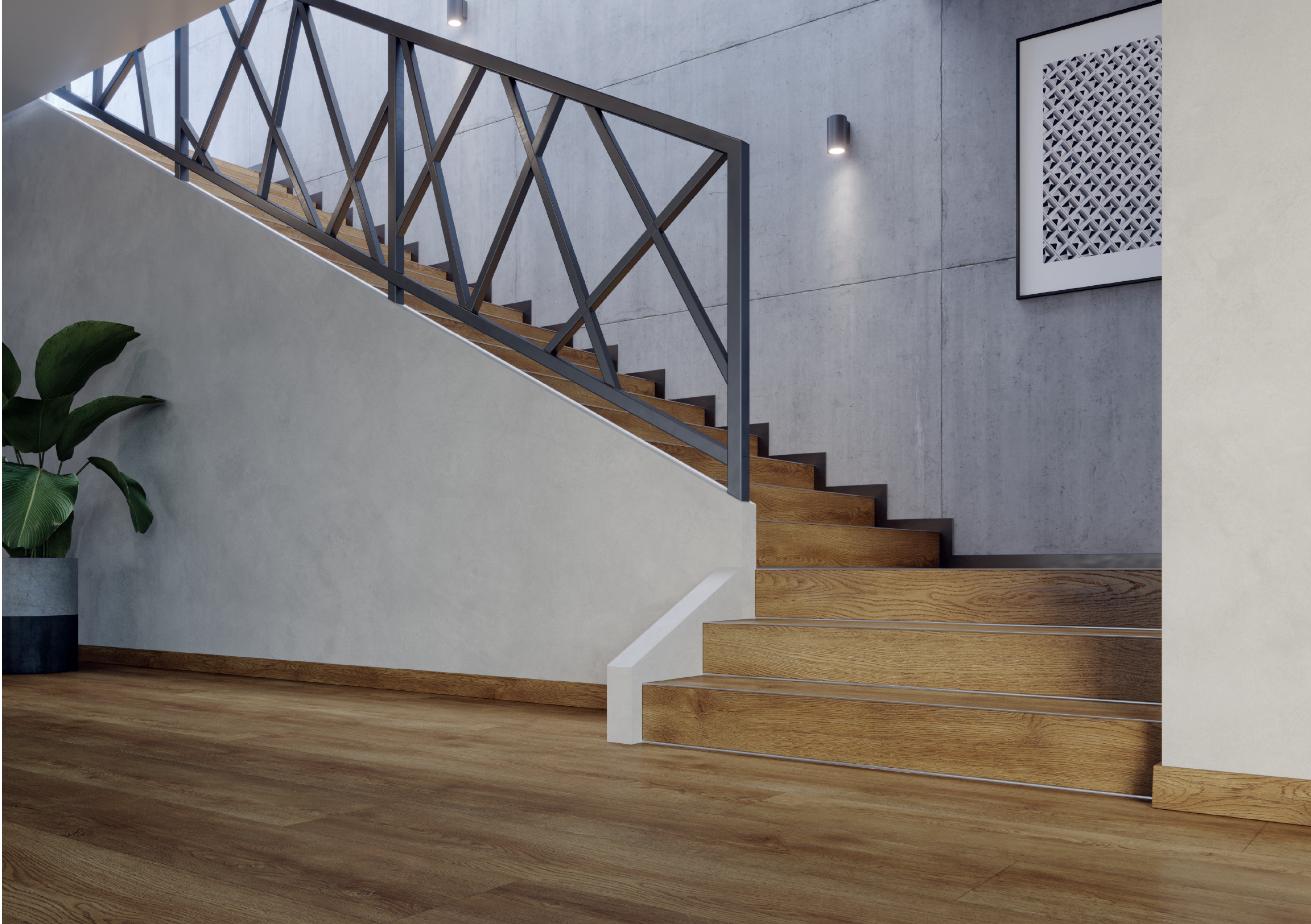 Vinylplankor och trappor Pro S trapplister